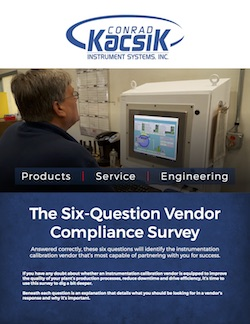 Conrad Kacsik Six-Question Vendor Compliance Survey